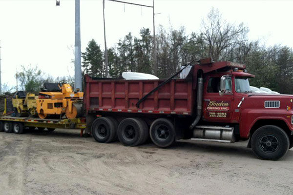 Gordon Paving blacktop paving equipment
